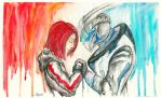 FemShep and Garrus by Bast-Fury