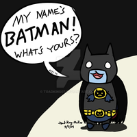 Catbug Batman ''I AM THE NIGHT!'' by toadking07