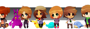 Some of My Pals! by tabby-like-a-cat
