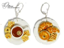 "Earrings ""Baking"" by OrionaJewelry"