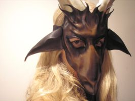 Baphomet Goat Leather Mask brown by teonova