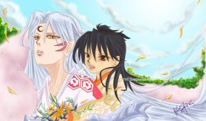 Inuyasha: Sesshomaru and Rin by EmpyrealRain