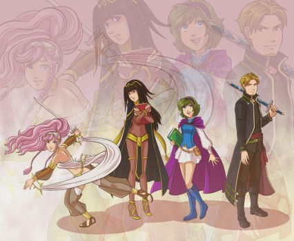 FE: Arena Team by Card-Queen