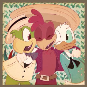 We're the three caballeros by Punkin-love