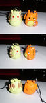 Poke-Peeps Cellphone Charm - Ninetales + Charizard by UniqueTreats