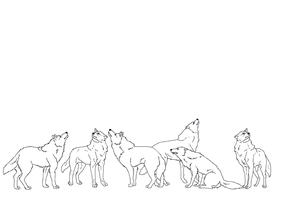 Look up! wolf lineart by TheSodaSmuggler