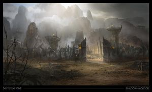 Middle Earth - Shadow of Mordor Concept Art: Camp by ScribblePadStudios