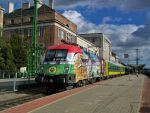 Szechenyi lok with a special train in Gyor station by morpheus880223