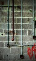 Pipes on the wall by PAlisauskas