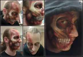 Zombie Make-up by alvaramorrigan