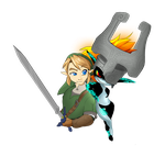 Link and Midna by briteddy