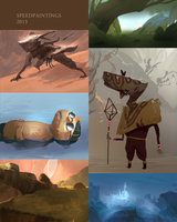 Speedpaintings from 2013 Part1 by SandroRybak