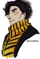 Bee Scarf by GarrulousGibberish