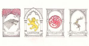 Game of Thrones bookmarks by me-tal