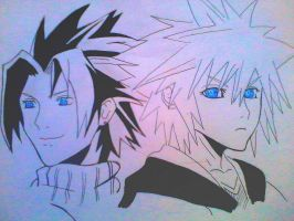 Zack Fair and Sora by Yuma76
