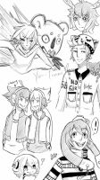 OC sketch Dump Stress relievers by Yu-Tanni