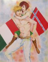 Norway and Ireland by ginqueeen