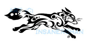 Running Fox Tribal Design by InsaneRoman