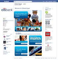 Citi Bank in Egypt Facebook Design by MaiEltouny