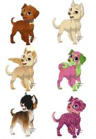 3 point adoptables! [OPEN] :D by The-Quirky-Banana