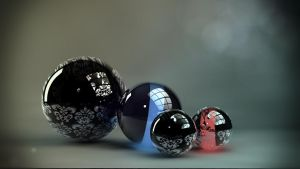 reflective balls by salsr