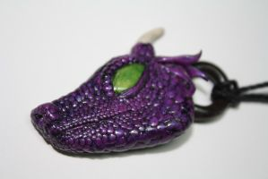 Dragon Baby Purple Polymer Clay by VerUniqueCreations