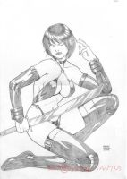 Static sitting Chastity by andresantos
