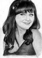Zooey Deschanel by vipinkabadi