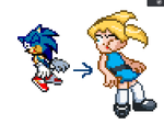 Sprite conversion Sonic to bubbles (PPGD) by TJ0001