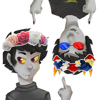 AT: sollux and kk flower crowns by goshhhh