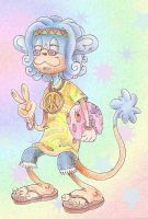 New age retro monkey by eternalsaturn