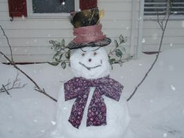 Mad Hatter Snowman by SarahMame