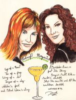 #Inktober 13 - Gillian and Sally Owens by soletine