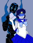 Sailor Mercury and Blue Beetle by Asatira