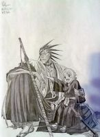 Zaraki Kenpachi and Yashiru by RalysonB