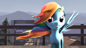 SFM - Rainbow Dash by Stormbadger