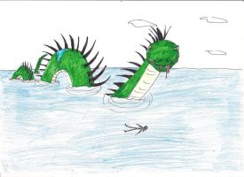 sea serpent by Jaquina