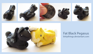 Fat Black Pegasus - SOLD by Bittythings