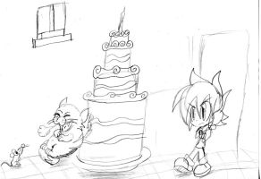 Aaron: who ate the cake sketch by Armonsterz