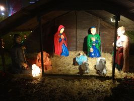 Nativity scene at Omonia square - Untouched by woodsman2b