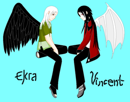 Elcra and Vincent by Elcra