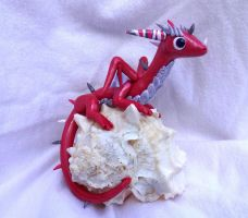 Seashell Dragon Sculpture by ByToothAndClaw