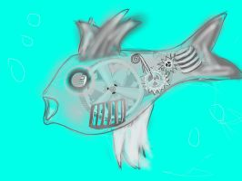 Sketch a Mechanical Fish by CocaineCowboy007