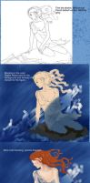 Little Mermaid Process by LibertineM