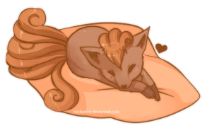 Lazy Vulpix by Raidiance
