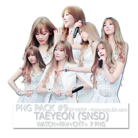 Pack Png #9 - Taeyeon (snsd) by Haqy-cute