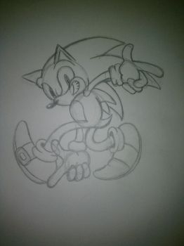 Sonic Sketch by InuYoukai-Chan