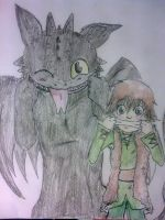 Toohless and Hiccup GRIIIIIN by Hukkis