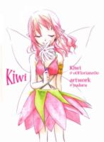 Kiwi with a flower by rriee