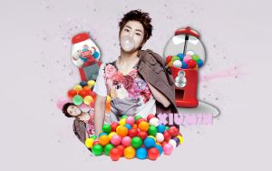 XiuMin BubbleGum (Men Health) by KpopGurl